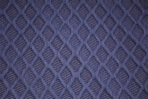 Blue diamond knitted air layer