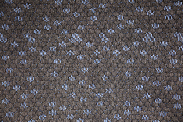 Blue hexagon hemp gray knitted air layer
