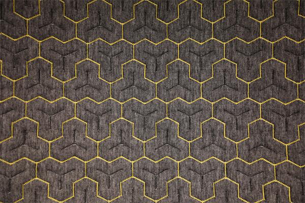 Gear pattern hemp gray knitted air layer