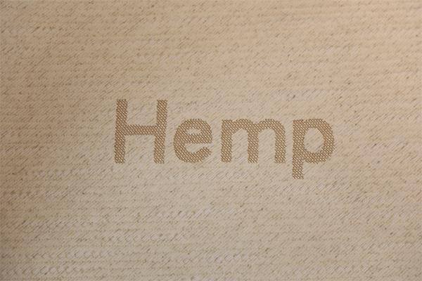 Hemp knitted air layer